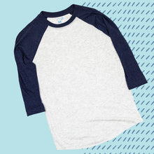 Load image into Gallery viewer, Indigo 3/4 Sleeve Raglan