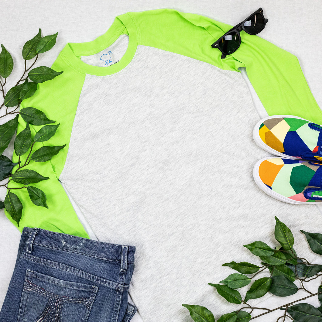 Lime 3/4 Sleeve Raglan