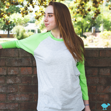 Load image into Gallery viewer, Lime 3/4 Sleeve Raglan
