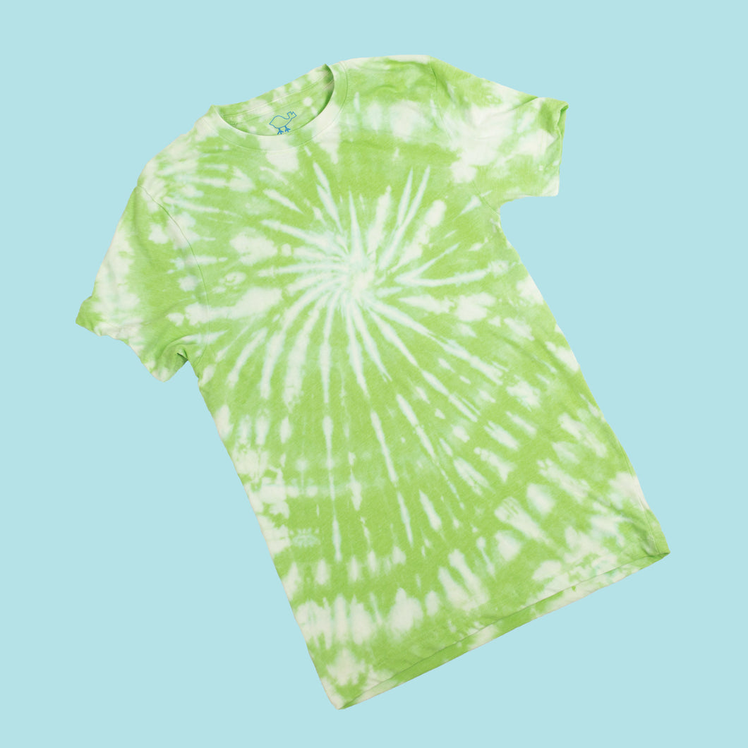 Bleach-Dyed Lime Tee Shirt