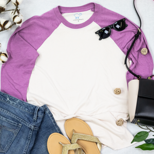 Mulberry & Blush 3/4 Sleeve Raglan