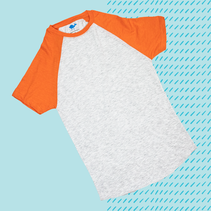 Orange Short Sleeve Raglan