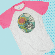 Load image into Gallery viewer, Pink Short Sleeve Raglan