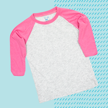Load image into Gallery viewer, Pink Youth Raglan