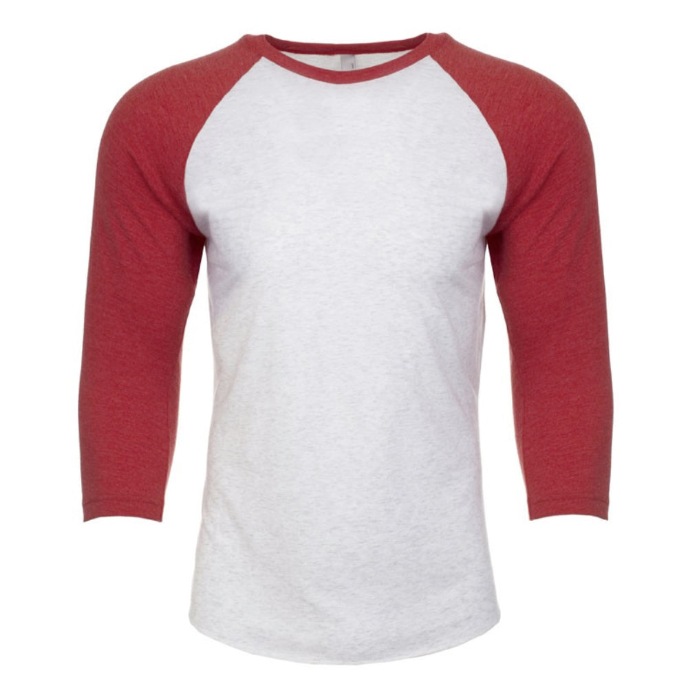 Next Level Red 3/4 Sleeve Raglan
