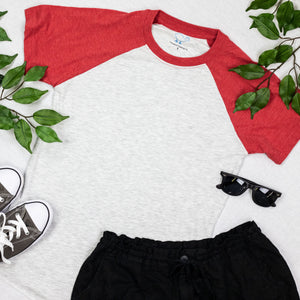 Red Short Sleeve Raglan