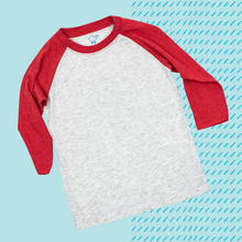 Load image into Gallery viewer, Red Youth Raglan