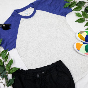 Royal Blue Short Sleeve Raglan