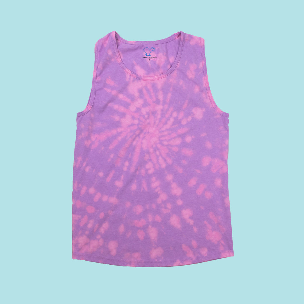 Bleach-Dyed Violet Tank