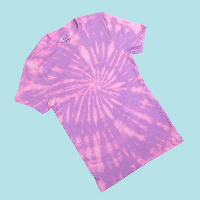 Bleach-Dyed Violet Tee Shirt