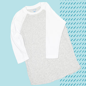 White 3/4 Sleeve Raglan