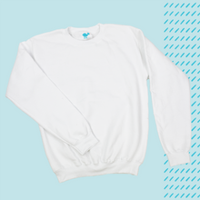 Load image into Gallery viewer, White 50/50 Sweatshirt