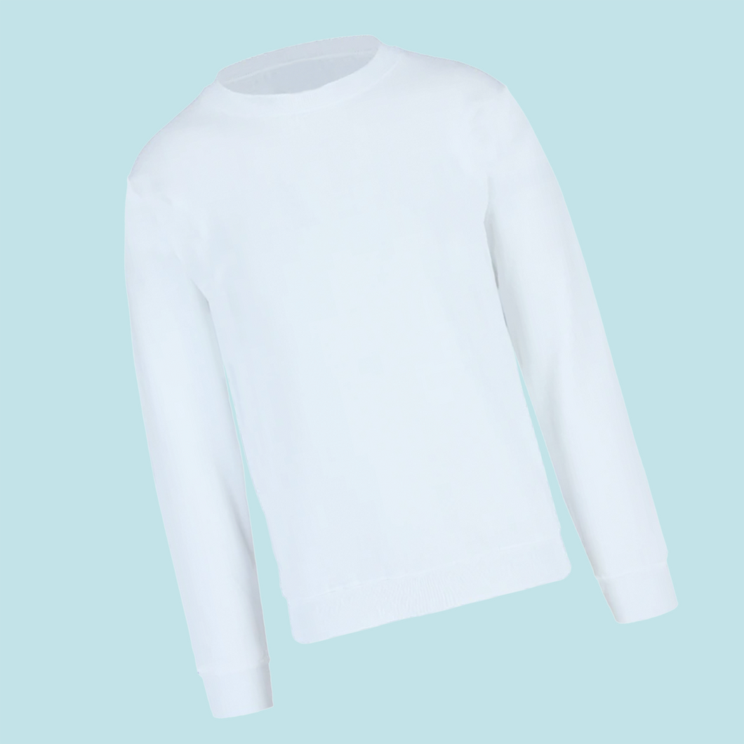White 50/50 Youth Sweatshirt