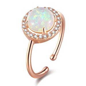 OPULENT ESSENCE ROSE GOLD OPAL RING