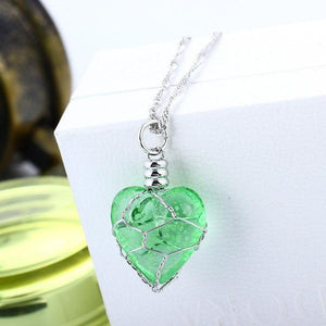Magical Glow In The Dark Heart Necklace