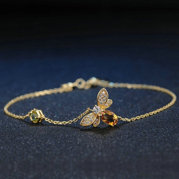 Gold Coloured Bee Bracelet