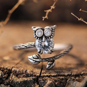 Vintage Style Owl Wrap Ring