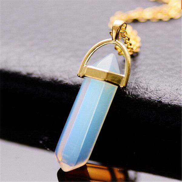 Shaped Natural Crystal Healing Necklace