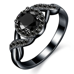 ENCHANTING BLACK CRYSTAL RING