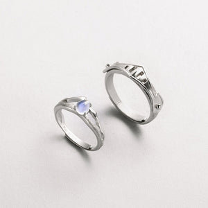 THE PRINCESS & KNIGHT MOONSTONE RINGS