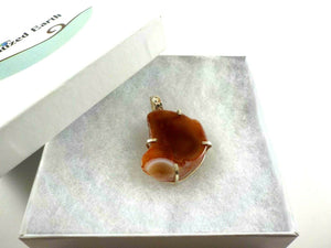 Caramel Colored Druzy Pendant