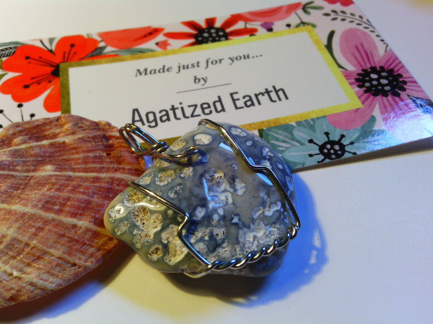 Baby Blue Fossil Coral - Agatized Earth