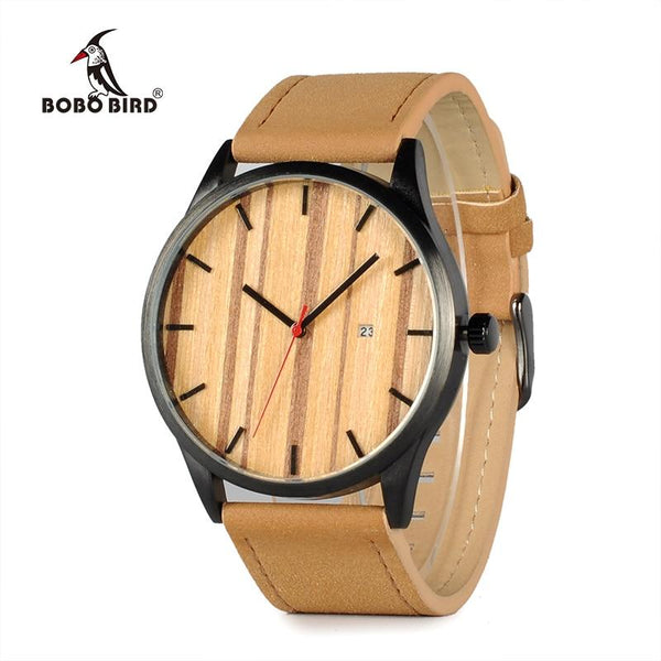 BOBO BIRD -Classic wooden Dial Neram Mens Brown