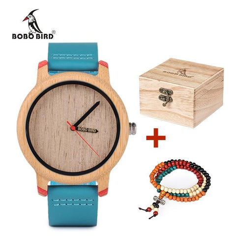 BOBO BIRD-Slim Wooden Dial with Leather Strap Neram