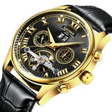 KINYUED- M31 Mechanical Automatic watch Neram Black Leather