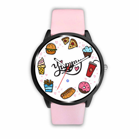 Love for Food Watch wc-fulfillment Mens 40mm Pink