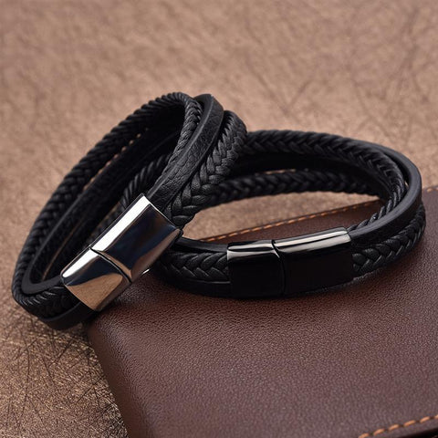 Men's Wristband with Magnetic Clasp Neram