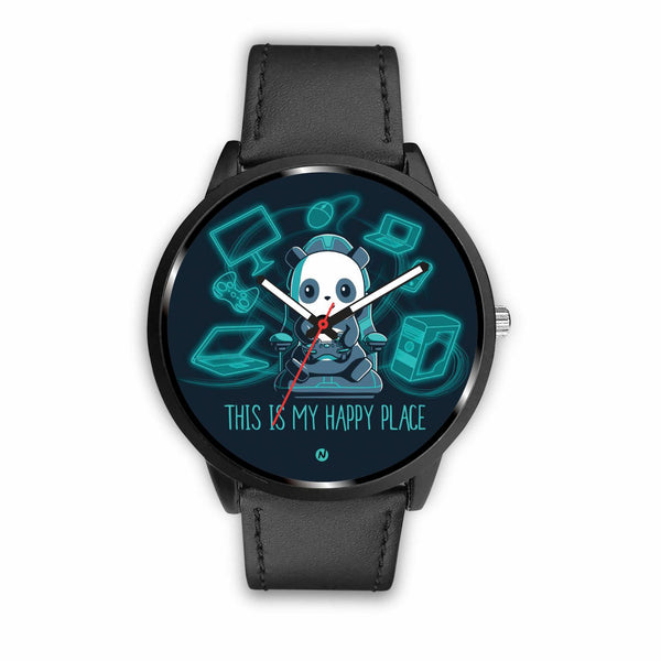 PANDA's Gaming Life Watch wc-fulfillment Mens 40mm Black