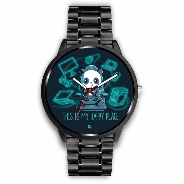 PANDA's Gaming Life Watch wc-fulfillment Mens 40mm Metal Link