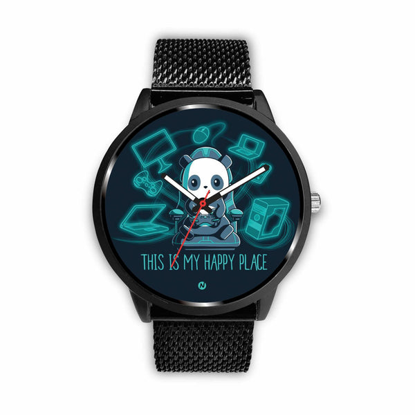 PANDA's Gaming Life Watch wc-fulfillment Mens 40mm Metal Mesh