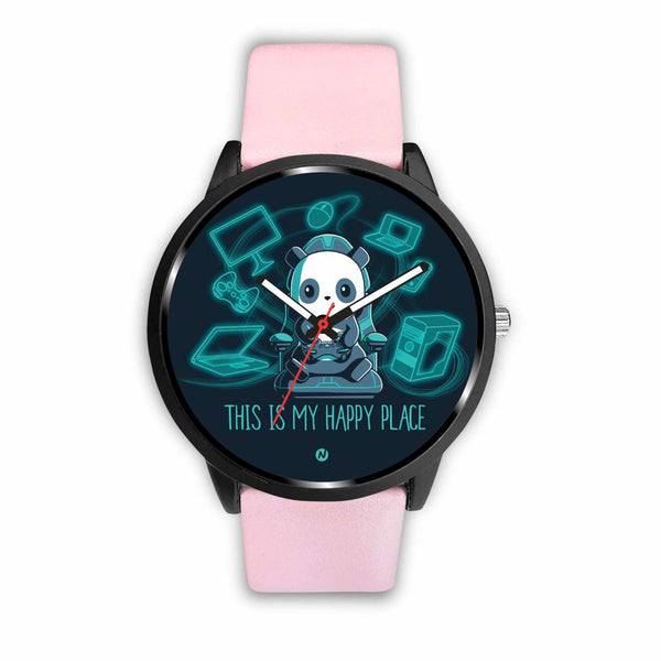 PANDA's Gaming Life Watch wc-fulfillment Mens 40mm Pink