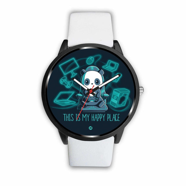 PANDA's Gaming Life Watch wc-fulfillment Mens 40mm White