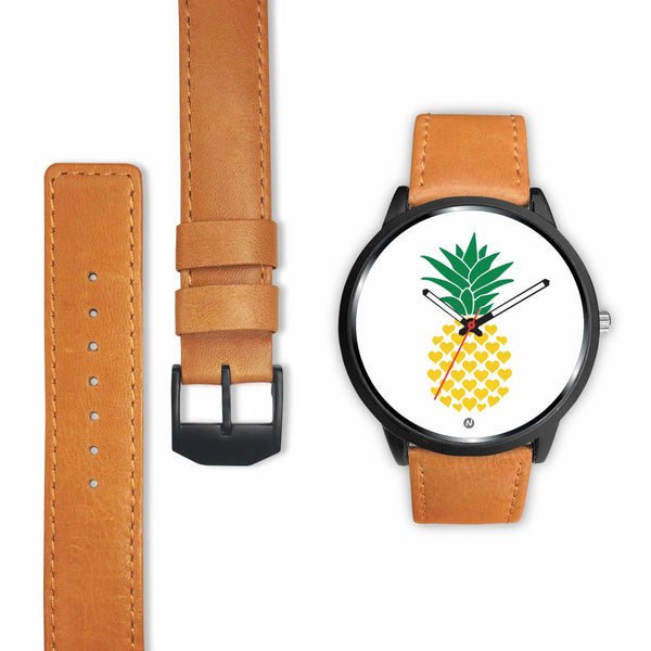 Pineapple's Yellow Heart Watch wc-fulfillment