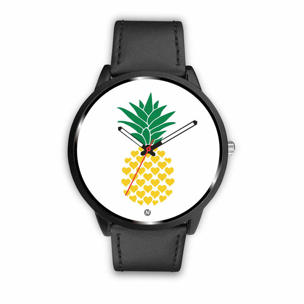 Pineapple's Yellow Heart Watch wc-fulfillment Mens 40mm Black