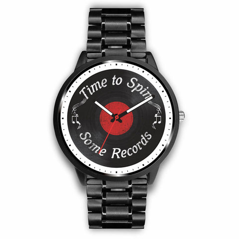 Time to spin some Records Watch wc-fulfillment Mens 40mm Metal Link