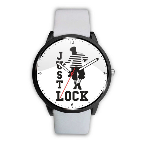 "What ever happens ""Just LOCK"" Watch wc-fulfillment Mens 40mm White"