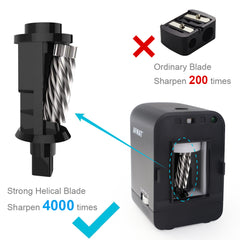 Auto Stop Electric Pencil Sharpener for Colored Pencils (6-8mm) with Adapter Black-PS74