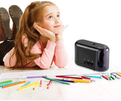 Electric Pencil Sharpener for Colored Pencils (6-8mm) with Adapter Black-PS51
