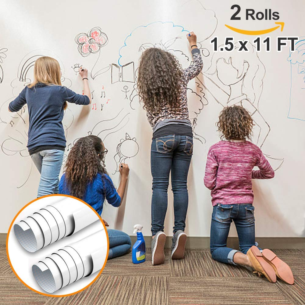 White Board Paper-No Ghost Even after 2 Months- 1.5*11 FT-2 Rolls-PP06