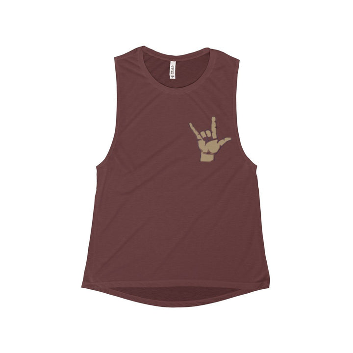 Sign Language Muscle Tank
