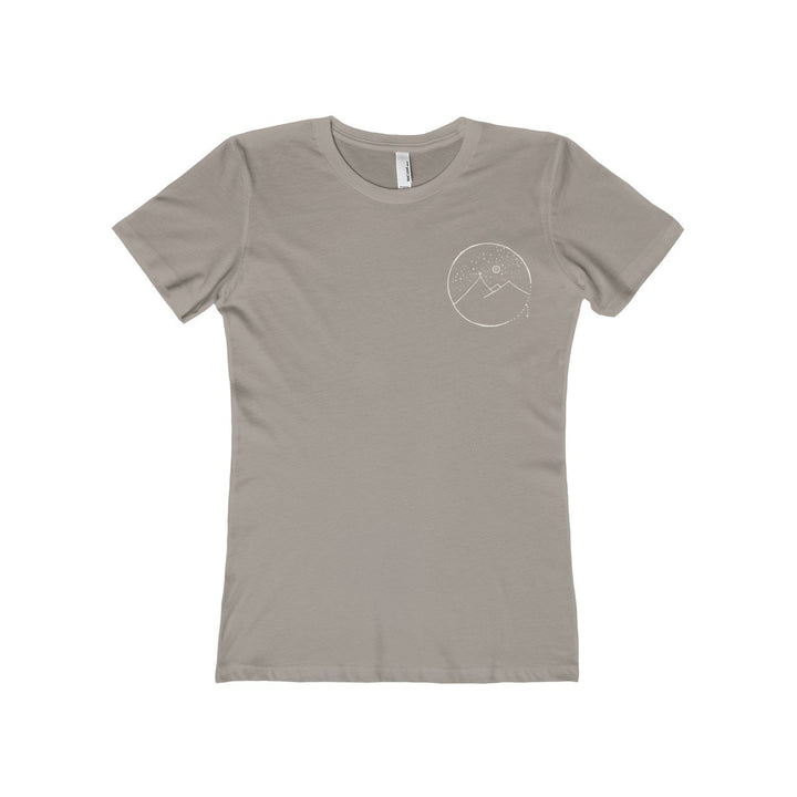 Women's The Boyfriend Tee With Cross Mountain Scene