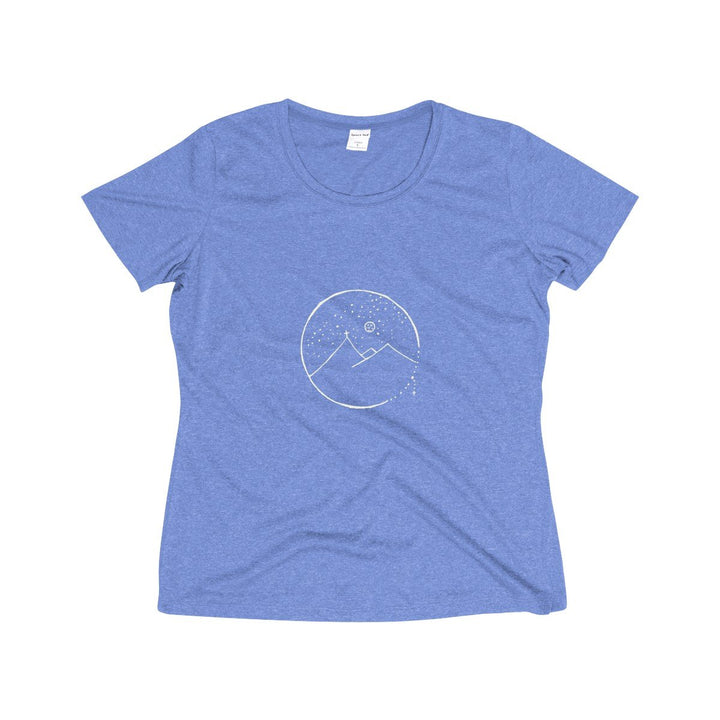 Women's Wicking Tee with Cross Mountain Design