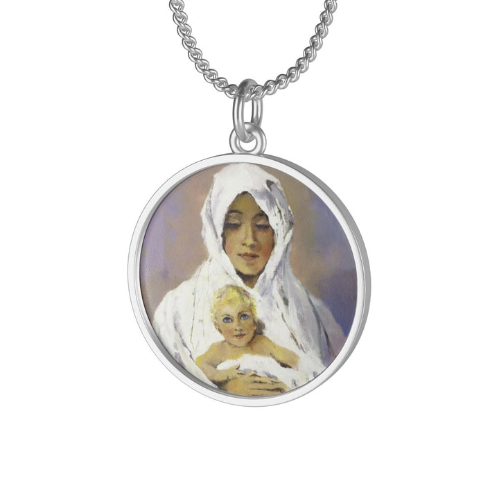 Blessed Mother With Child Necklace