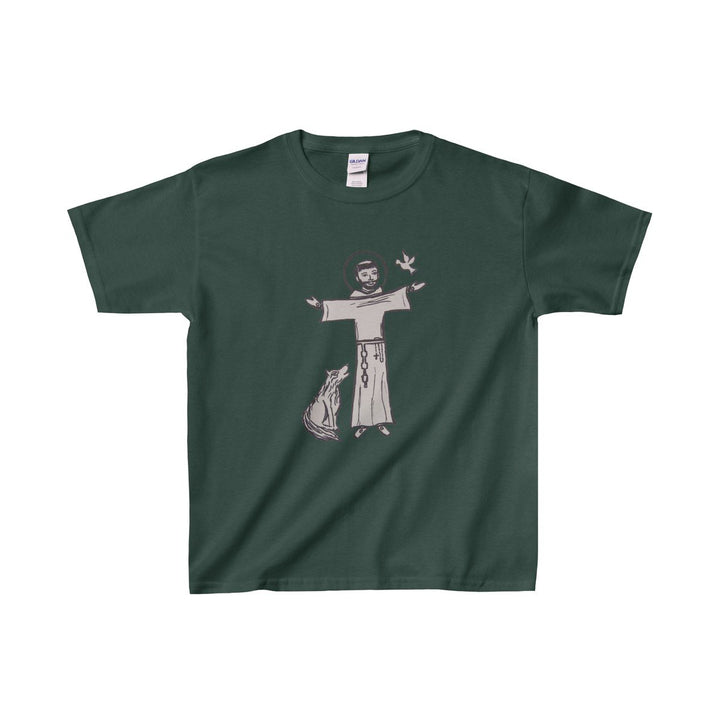 St. Francis with Brother Wolf Kid's T-Shirt