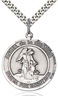 Angel de la Guarda Medalla Sagrada - Plata