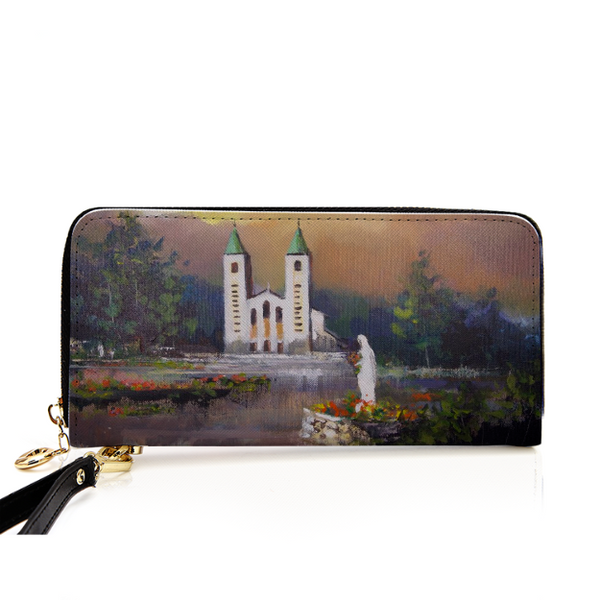 Medjugorje Zippered Wallet